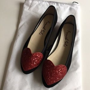 French Sole London Heart Flats